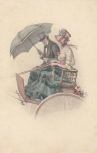 M.M. VIENNE : Couple in Buggy , 00-10s