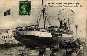 CPA ST-NAZAIRE Le Paquebot ESPAGNE (864377)