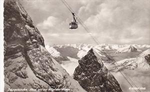 Germany Garmisch Zugspitzbahn Blick Auf Die Allgauer Alpen 1972 Real Photo