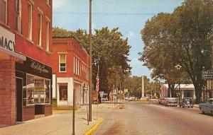 Mount Gilead Ohio Main Street Business District Vintage Postcard JH230728