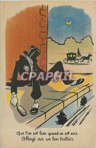 Old Postcard Whether one is when one is black lengthen on good pavement