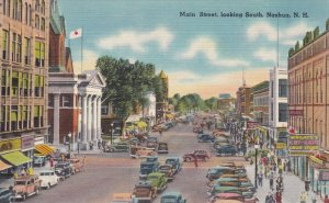 New Hampshire Nashua Main Street Looking South sk855