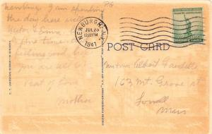USA N.Y. Greetings from Westchester County 1941