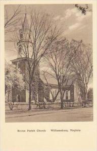 Virginia Williamsburg Bruton Parish Church Albertype