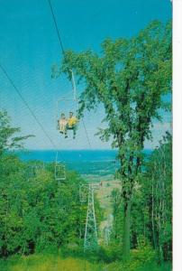 Canada Ontario Aerial Chairlift Blue Mountain Winter Park Near Collingwood