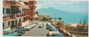 Italy Campania Napoli Naples Via Orazio Mount Vesuvius 1957 Large Postcard