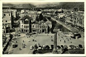 syria, DAMAS DAMASCUS, Merdjé Square, Cars (1950s) RPPC Postcard