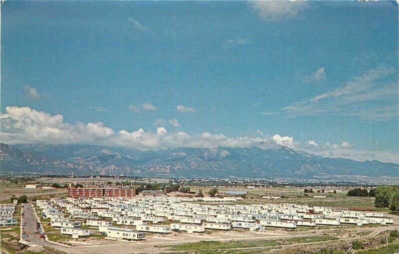Colorado Springs Colorado Garden Valley Mobile Home Park Postcard Smith 20-1333