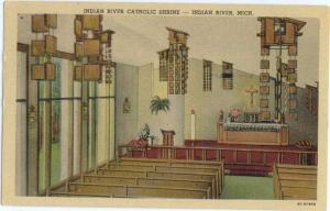 Linen of Indian River Catholic Shrine Indian River Michigan