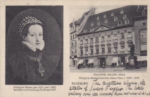 2-Views, Philippine Welser Geb. 1527, Philippine Welser-Haus, AUGSBURG (Bavar...