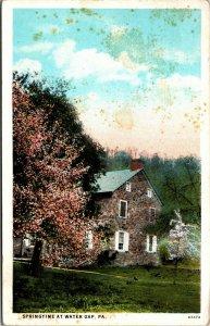 1933 - PA Delaware Water Gap Pennsylvania antique SPRINGTIME VINTAGE POSTCARD