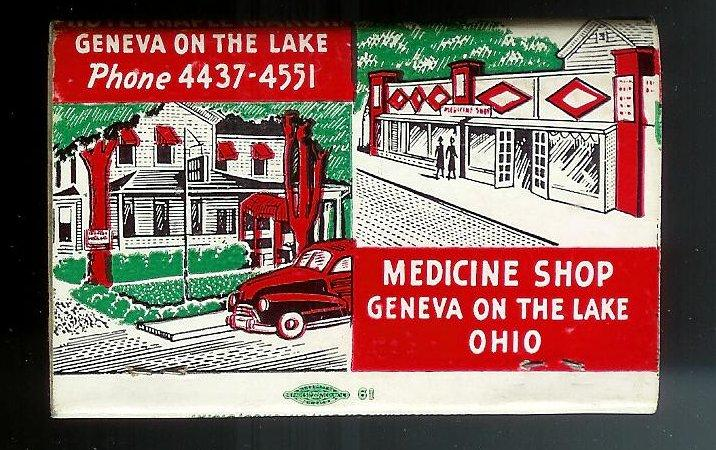 GENEVA-ON-THE LAKE 1950's Lightly Struck Matchbook