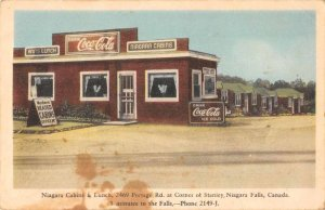 Niagara Falls Ont. Canada Niagara Cabins Coca-Cola sign antique pc ZD549869