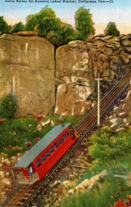 Tennessee Chattanooga Incline Railway Car Ascending Lookout Montain