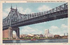 New York City Queensborough Bridge And New York Hospital