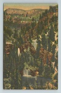 Panorama Hanging Lake Glenwood Springs Canon Highway US 24 Colorado CO Postcard