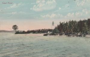 Sand Point Lighthouse on Saint John River - New Brunswick, Canada