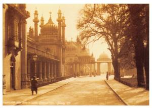 Vintage Repro Postcard c1900s Pavilion & South Gates Brighton, East Sussex 11Q
