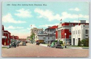 Cheyenne Wyoming~Carey Avenue South~Cafe~Hotel~Cheyenne Hardware~1940s Linen PC