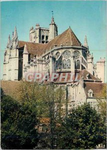 Postcard Modern Reflections Auxerre Morvan Apse of the Cathedral St Etienne
