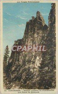 Old Postcard Gerardmer rocky trail Frankenthal flanks Hohneck Vosges Picturesque