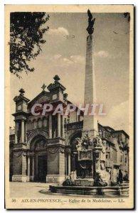 Old Postcard Aix en Provence Madeleine Church