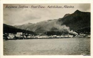 1930s KETCHIKAN ALASKA Business Section Front Views RPPC postcard 1932