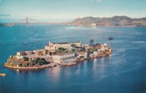 California San Francisco Aerial View Alcatraz Island