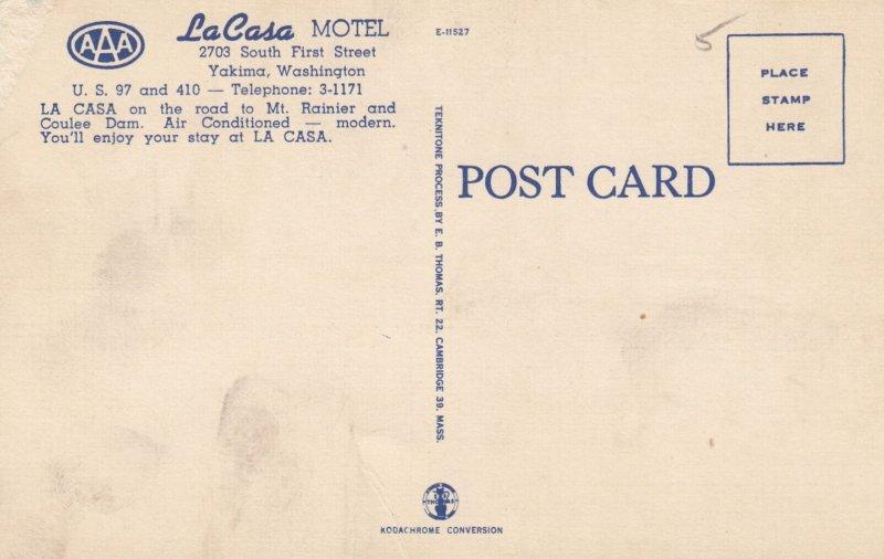 YAKIMA , Washington , 1930-40s ; La Casa Motel