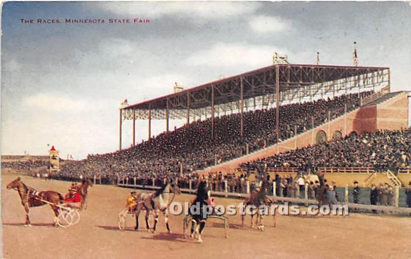 The Races, Minnesota State Fair Minnesota, MN, USA Horse Racing Unused