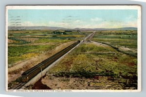Kittitas Valley WA, Railroad, Vintage Washington c1916 Postcard