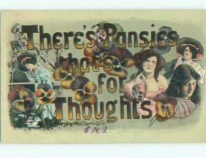 Divided-Back PRETTY WOMAN Risque Interest Postcard AA7994