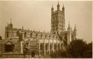 UK - England,  Gloucester Cathedral from Southwest *RPPC