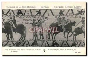 Tapissserie Queen Mathilde Bayeux Old Postcard William Harold Knight weapon o...