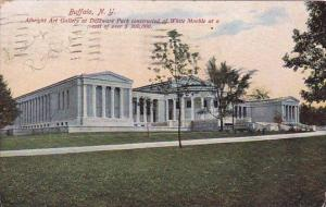 New York Buffalo Albright Art Gallery At Delaware Park Constructed Of White M...