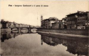 CPA PISA Lungarno Gambacorti e il ponte di mezzo. ITALY (468171)