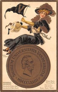 College Girl Post Card Vanderbilt University, Nashville, Tennessee USA 1907