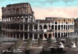 Italy Old Vintage Antique Post Card Roma Colosseo Postal Used Unknown