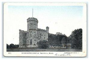 Postcard Winnikeeni Castle, Haverhill MA glitter udb I13