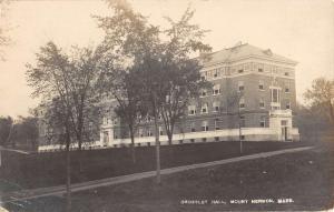 Mount Hermon Massachusetts Crossley Hall Real Photo Antique Postcard K76689