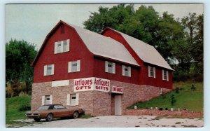 HARRISON, AR Arkansas~ BARBARA'S BARN Antique Shop c1960s Car Roadside  Postcard