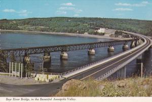 Scenic view,  Bear River Bridge,  Annapolis Valley,  Nova Scotia,  Canada,  5...