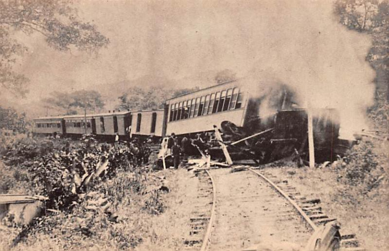 Guam Panama Canal Railroad Co, Derailment 1888  Panama Canal Railroad Co, Der...
