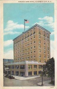 North Carolina Elizabeth City Virginia Dare Hotel 1936