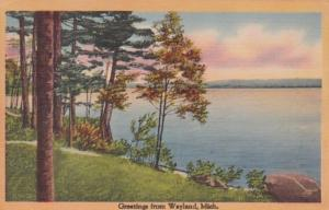 Michigan Greetings From Wayland 1943