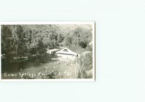 Vintage Postcard Como Springs Resort RPPC  Swimming Clubhouse U S 30  # 3468
