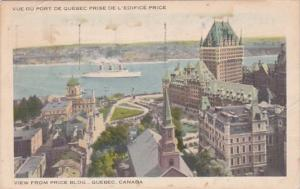 Canada Quebec View From Price Building 1945