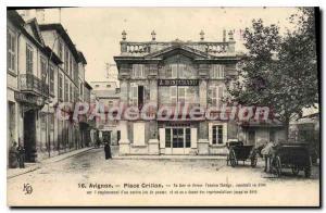 Postcard Old Vaucluse Avignon Place Crillon