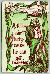 Cobb Shinn Fantasy~Dressed Frog in Suit & Tie~Gettin' Married Ain't Lucky~1911