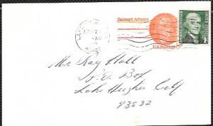 US Pre-stamped Postcard UX66 Samuel Adams. #1299 Coil - Jefferson